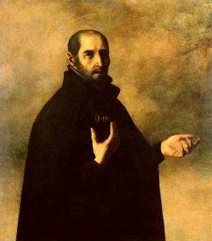 Ignatius of Loyola, by Francisco Zurbaran (1598-1664) (Art.co.uk) [Public domain], via Wikimedia Commons